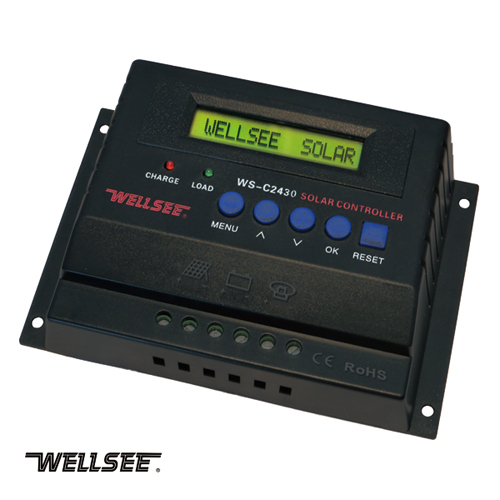 WELLSEE WS-C2430 intelligent charge controller Normal Specification and Home Application dc solar iron
