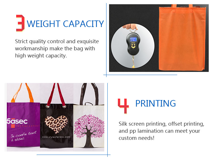 Custom Reusable Ecological Recyclable Non Woven Tote Gift Shopping Bags