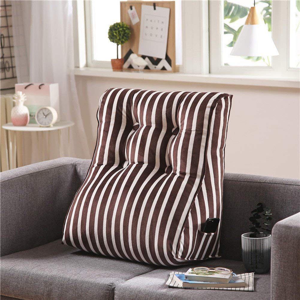 DW&HX Sofa Back cushion Triangular wedge,Bedside Tatami mats Waist Cushion office Stereo And a waist-I 55x60x30cm(22x24x12inch)