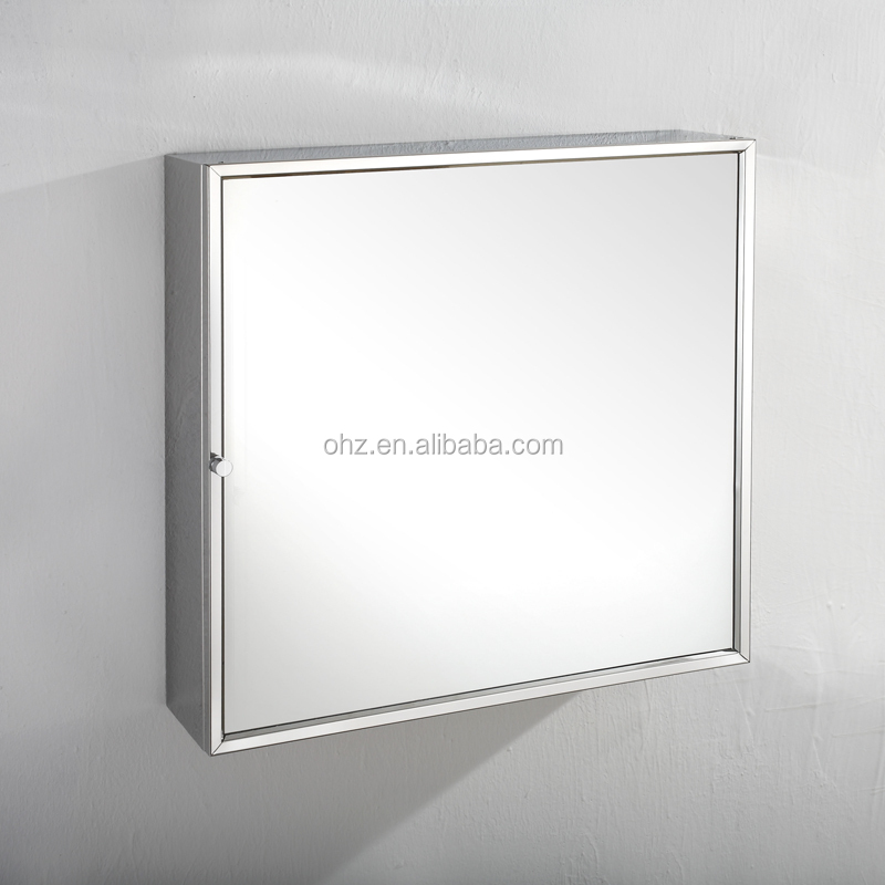 7014 hinge door and bath wall hang stainless steel cabinet with mirror
