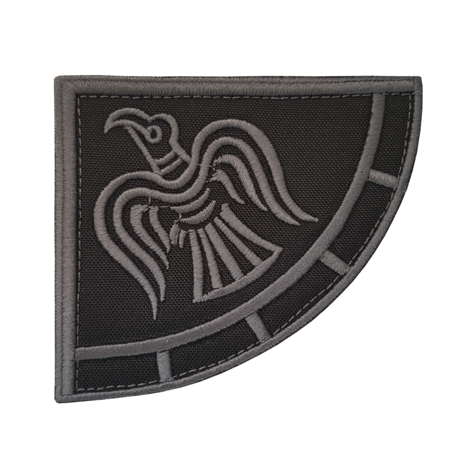 Glow Dark Rare Norse Viking Raven Runes Odin God of War Morale PVC Rubber 3D Touch Fastener Patch
