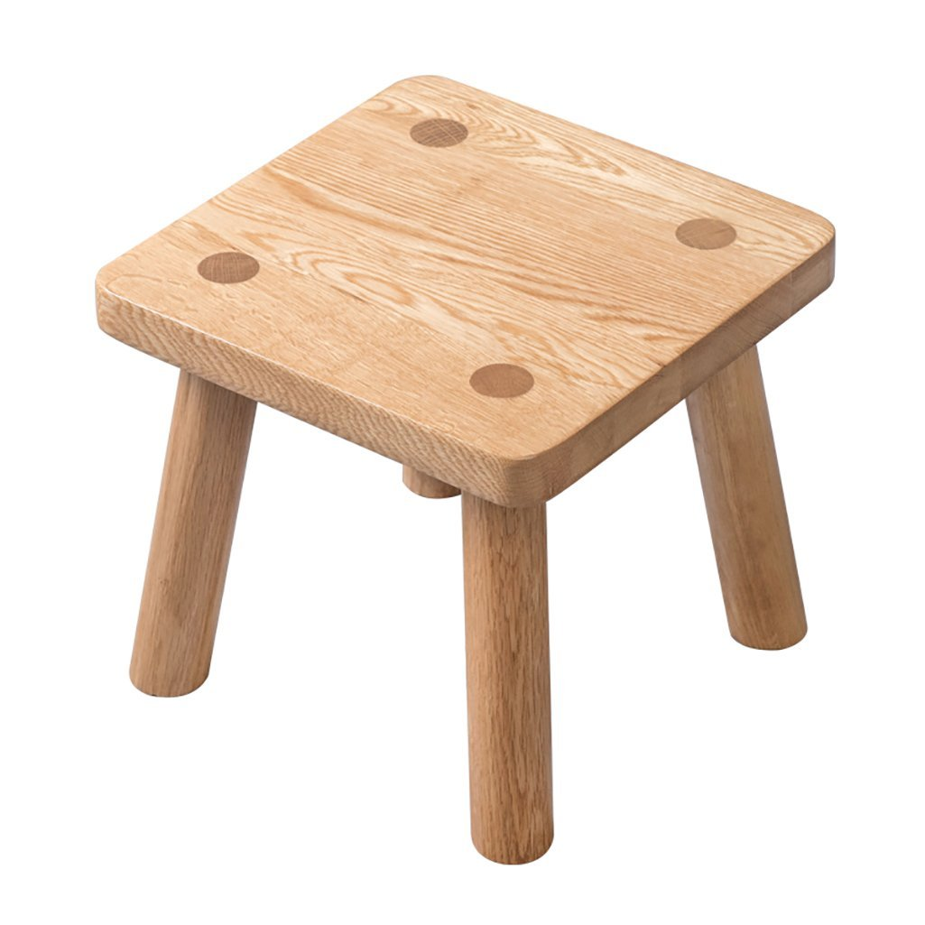 AIDELAI Stool chair Pure Solid Wood Stool Solid Wood Stool Children Adult Home Wood Shoes Stool Small Wooden Stool Coffee Table Stool Saddle Seat