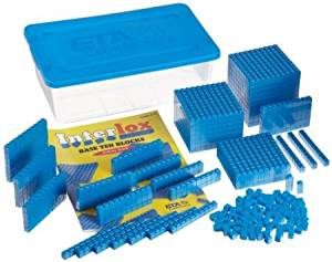 ETA hand2mind, Interlox Base Ten Blocks, 161 piece Starter Set, (40941)