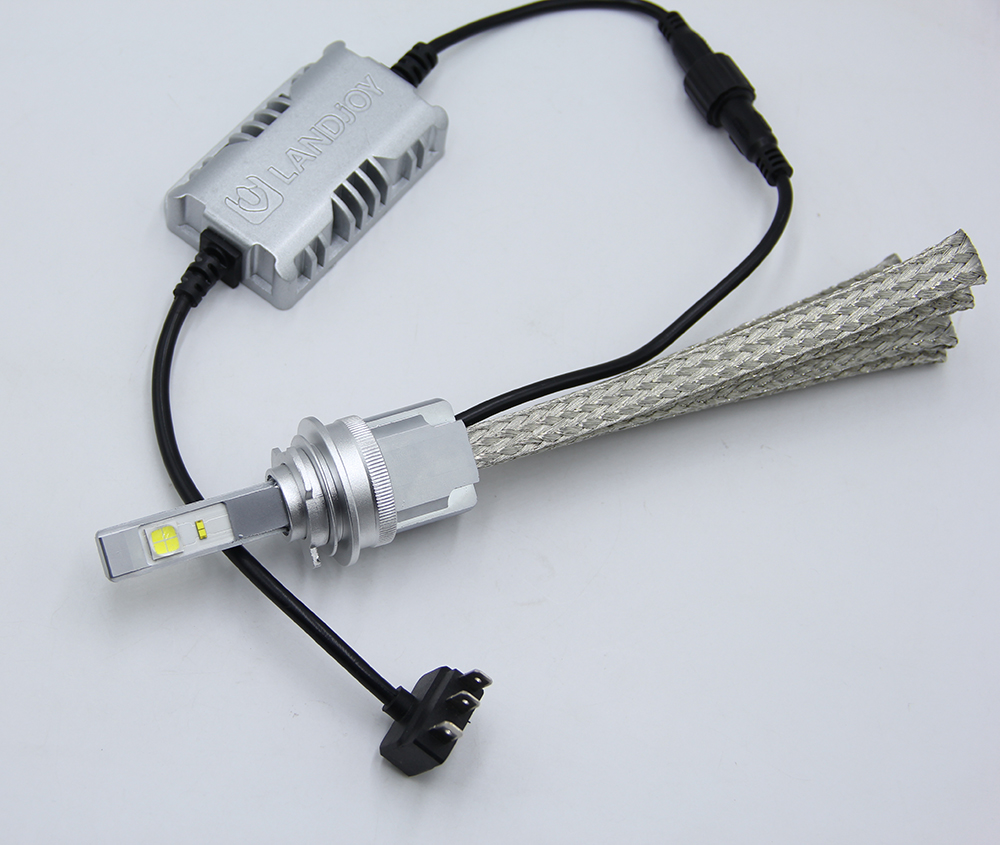 Powerful LUJIA Canbus led headlight LJ-L9-H15-CREE-XHP70-ZES H15 led DRL headlight bulbs Anti-Flicker