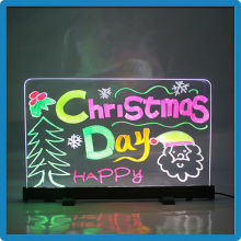 Alibaba express promotion novelty stand independently or hanging 18 flashing with marker pen led writing board in led display