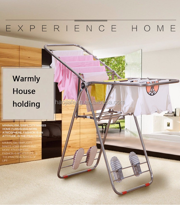 HJF GW-588B folding clothes drying rack X shape indoor clothes hanger clothes airer.
