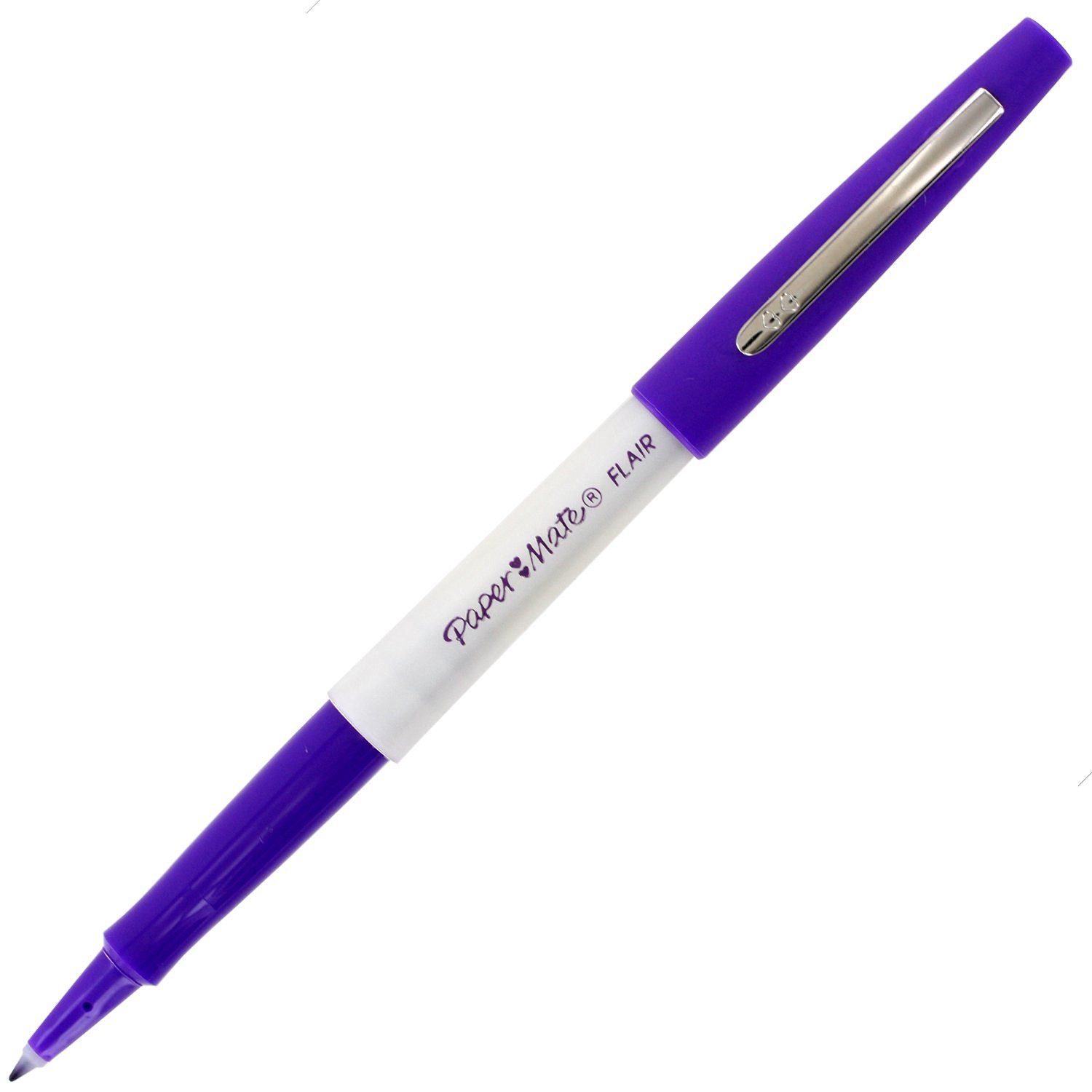 Paper Mate Flair Porous Point Stick Liquid Pen, Purple Ink, Medium Point, Pack of 12 (Bulk Packaging)