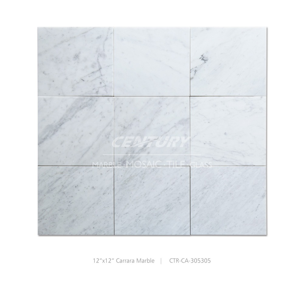 Carrara white kitchen floor tile