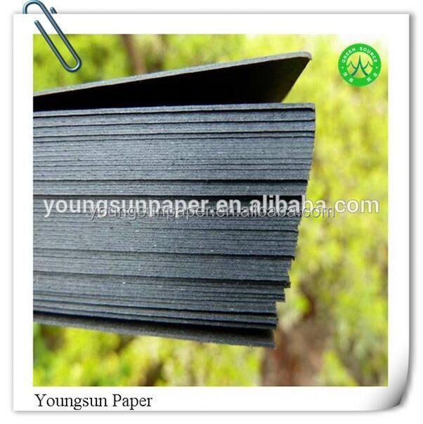 Black hard glue laminated plain paper board