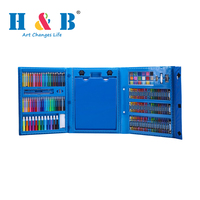 176pcs blue drawing stationery art set for kids