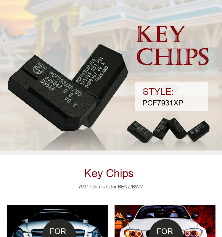 DY120001 Chips ID33 PCF7931XP/SQ Ceramic Transponder Chip Fit for BMW Keys