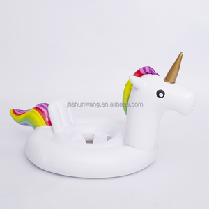 Inflatable unicorn shape swimming ring seat PVC kids toy