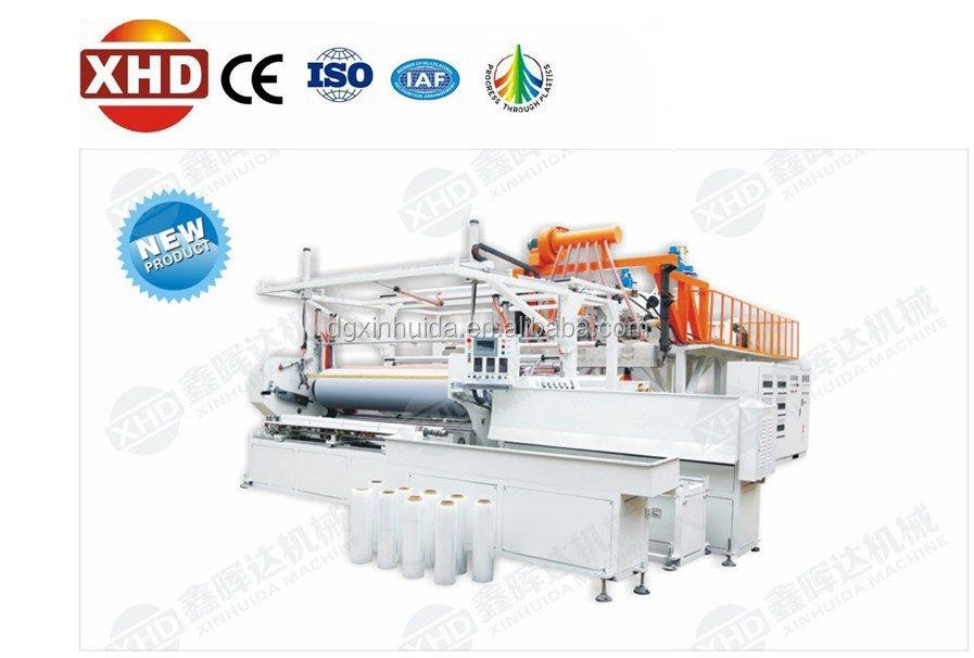 Automatic Smooth and Clarified PE Stretch Film Making Machine for Good Price(ISO/SGS/CE/CCC Granted)