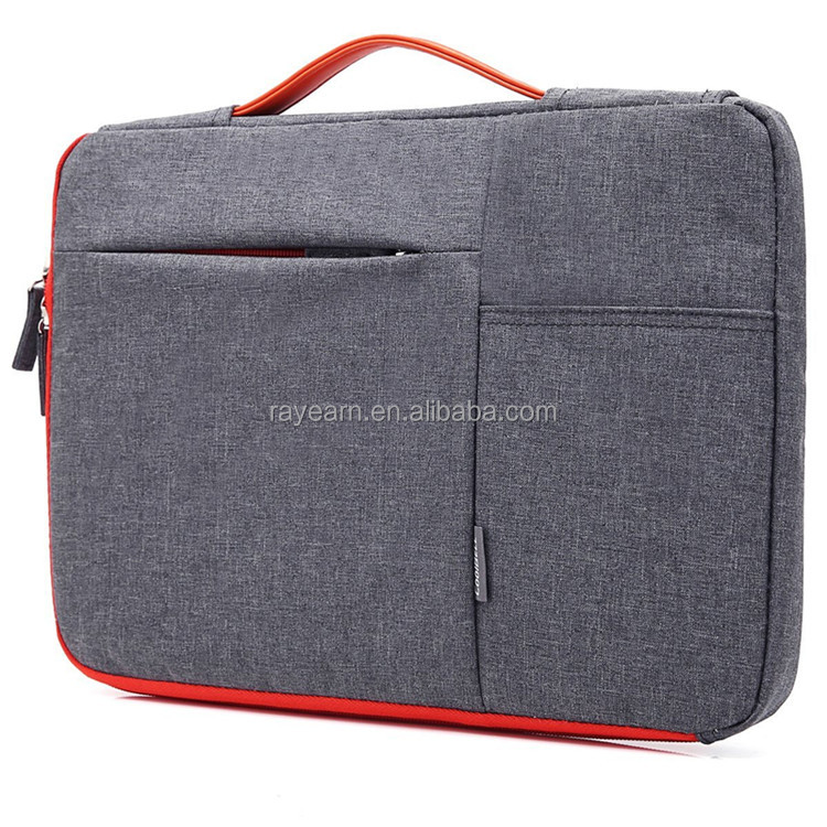 13-13.3inch Laptop Sleeve Case With Handle Nylon Laptop Sleeve Bag With accessories Front Pocket for Macbook