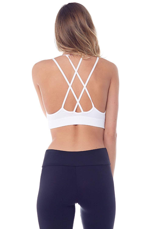 2d3ff531c3732 Hard Tail Double Cross Bra Womens Active Workout Yoga Bra
