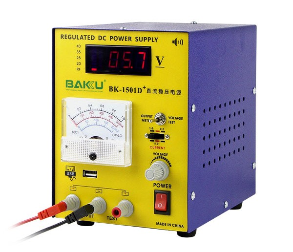 BAKU BK-1501D+ Wholesale High Quality 220V 1A Adjustable switching DC Mobile Power Supply