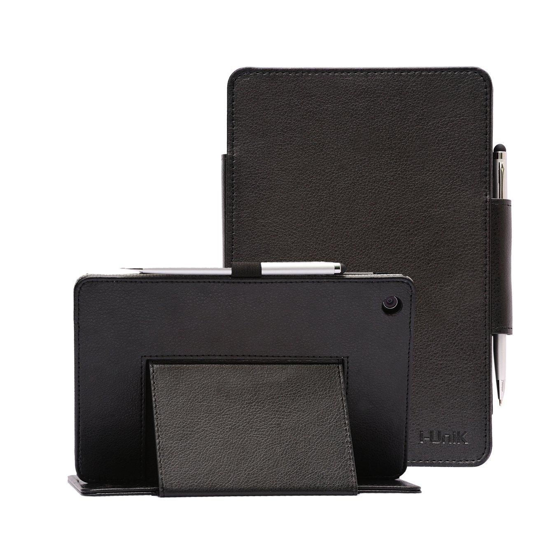 Verizon Asus ZenPad Z8 Case, i-UniK Verizon 2016 Asus ZenPad Z8 Support Sleep Awake Function Model# MSQP008 4G LTE Tablet Case [Bonus Stylus] (Black)