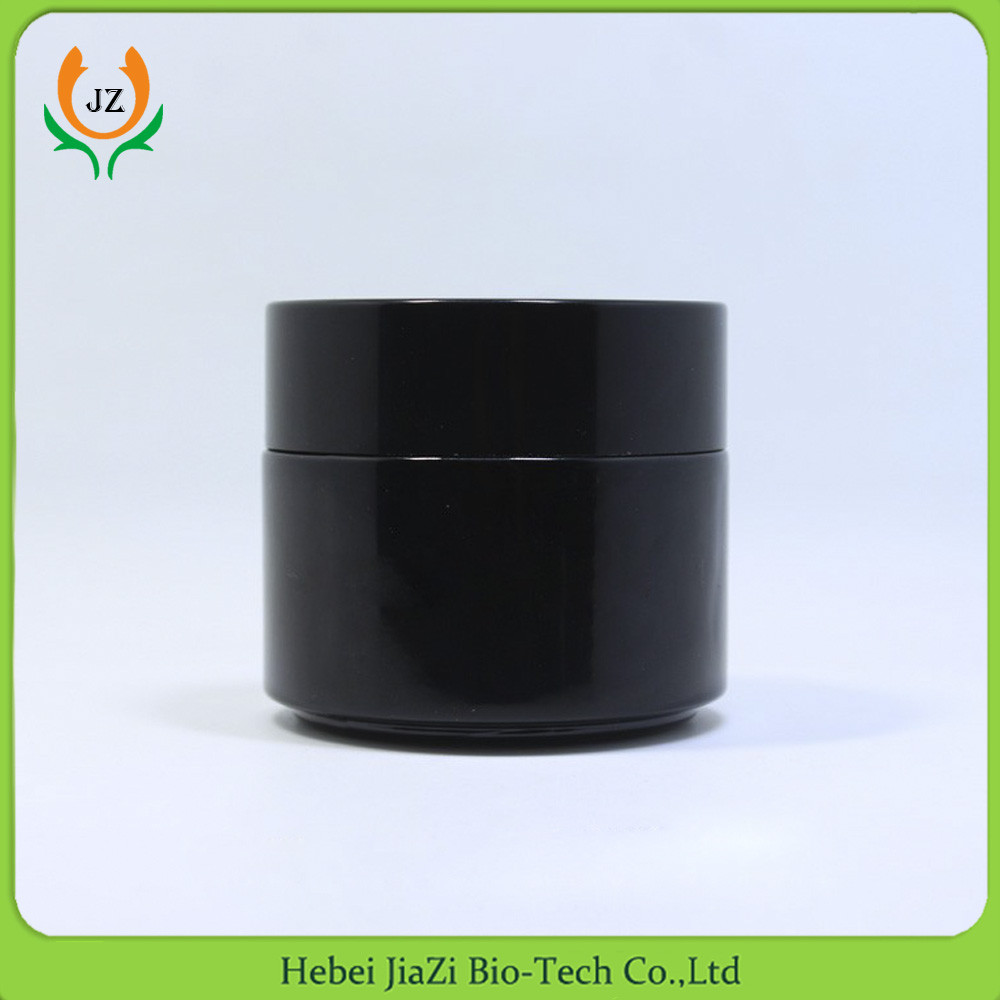 Screen Printing due whitening cream black 50ml glass jar