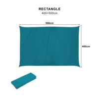 2019 Hot Sale Rectangle4*5m canvas shade sail uv protection netting waterproof sun sails