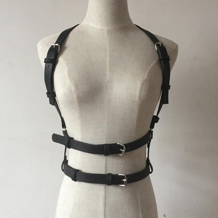300c01071b1 Dark Rock Street Strap Leather Harness Body Waist Belt Straps ...