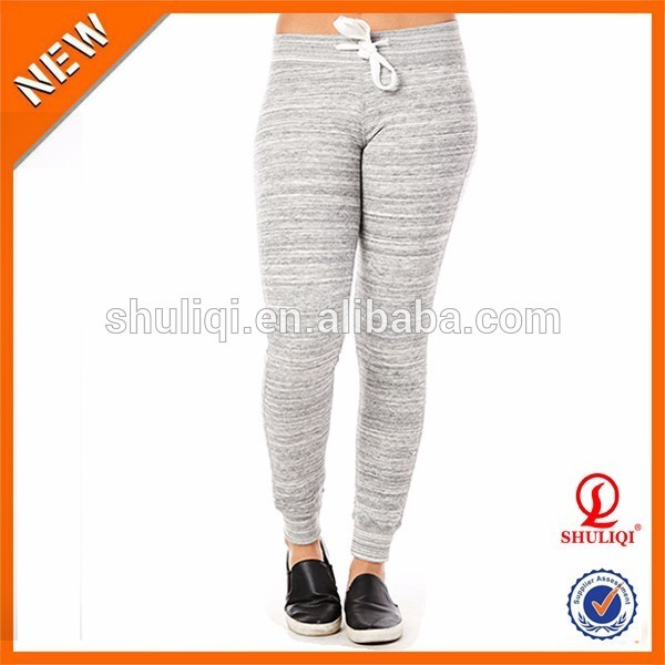 Custom made yoga pants wholesale 95% cotton 5% elastic women dance pants