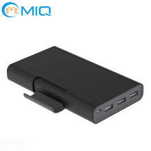 3 USB ports portable charger universal power bank 20000mah with holder