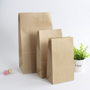 Food bags disposable brown paper thickened baking dim sum takeaway wholesale bread bags.