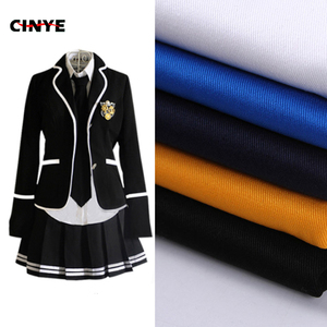 TC twill polyester cotton 65/35 reactive dyed school uniform fabric cloth