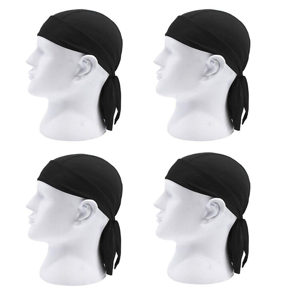 e38ee238e5c Get Quotations · Absorptive Moisture - Sweat Wicking Dew Doo Rag Skull Cap  Beanie Adjustable Hat Chemo Cap Head