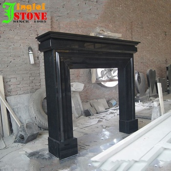 Machine Curved Black Granite Honed Fireplace Hearth Hearth Slabs