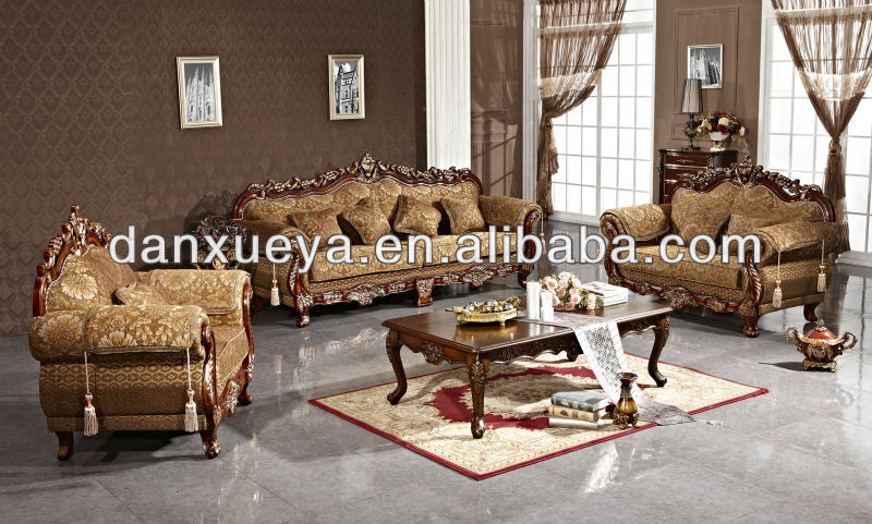 Pakistani Traditional Antique Reproduction Fabric Sofa Set 3048b