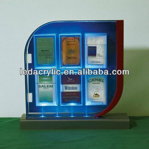 Led Acrylic Tobacco Merchandising Racks / Cigarette Display Stand ...