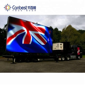 Flexible moving truck mobile led screen trailer for sale full color P6  digital led truck
