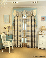Exported good quality chenille jacquard window curtain