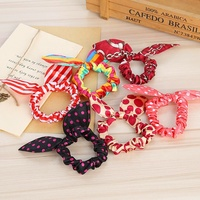 Children Hair Accessories Lovely Bunny Ear Baby Headbands Elastic Fashion Soft Toddler Bow Knot Girls Headband