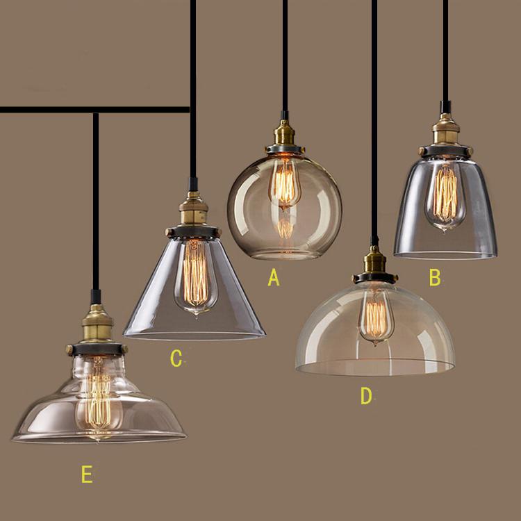 Nordic Vintage GlassPendant Lamp American Country Kitchen