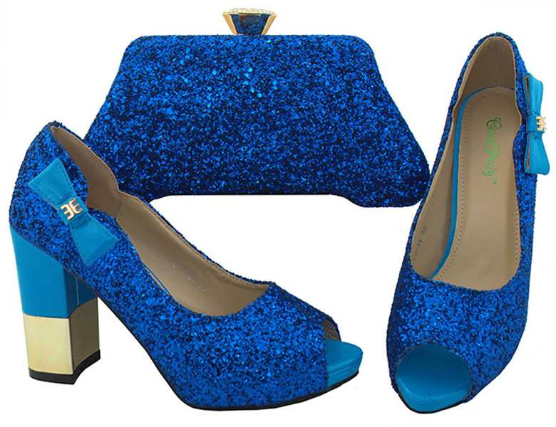 Decorated with Bag Set Quality Matching New Set Shoes Bag Italian High for Wedding Rhinestone Blue Shoes and Arrival and XwZqY0w