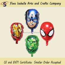 Cartoon Design Super hero Foil Helium Balloon for Birthday Party Decoration Kids