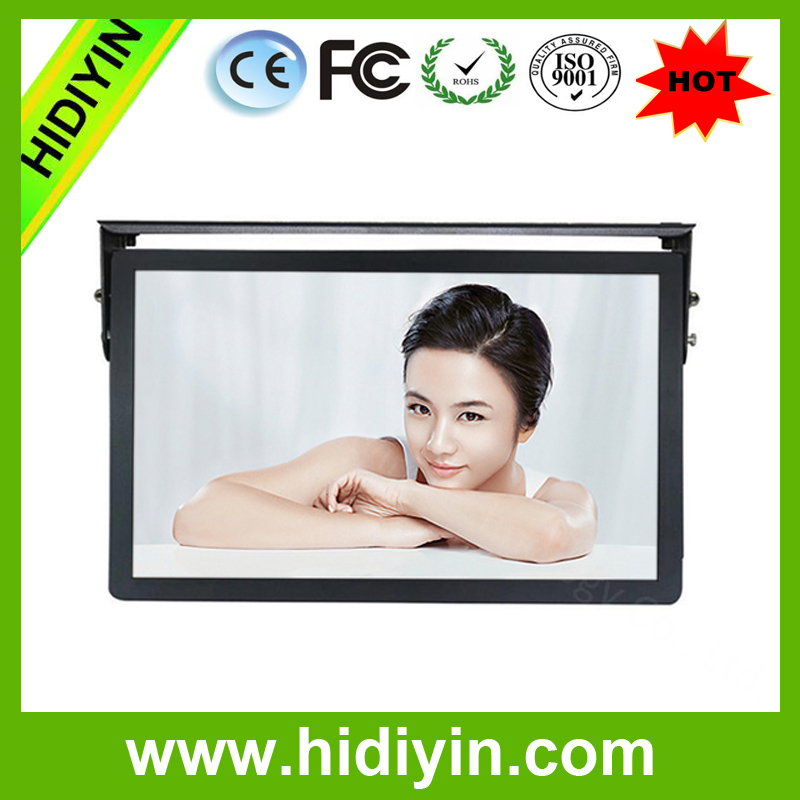 "18.5""LCD Advertising Display Android 4.2 OS Car Bus Roof Mount LED Monitor With TV"