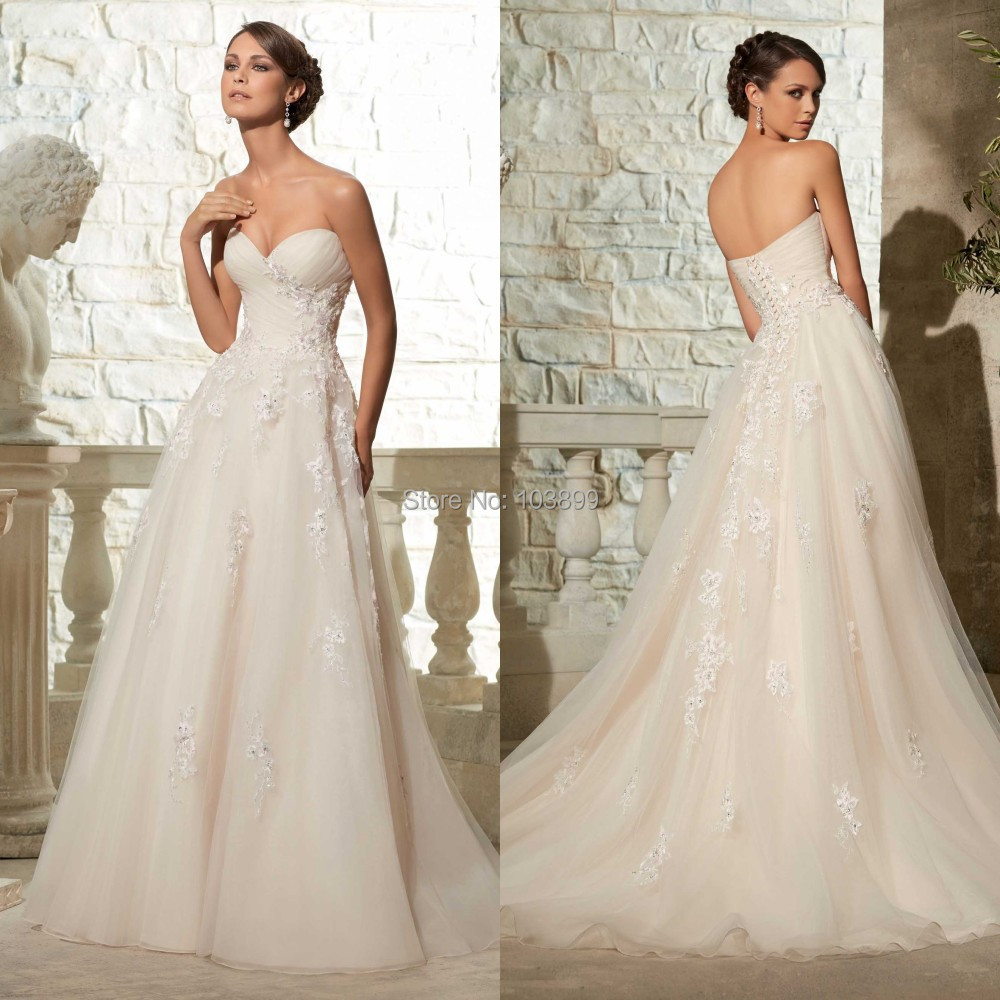 Cheap Elegant Wedding Dresses: New 2015 Cheap Bridal Dress High Quality Women Formal