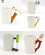 chinese Novelty Funny Gift Milk Mugs Tool Shaped Handle 3d white Ceramic travel cup tea Coffee porcelain Mug for Men