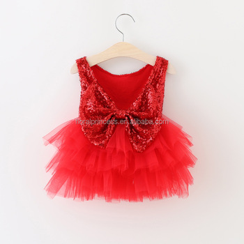 de5b2c439 Kids Girl Christmas Ball Gowns Tulle Dress Red In Color 2017 Summer ...