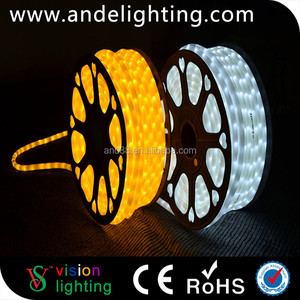 Factory price waterproof dimmable 100m decoration led rope light