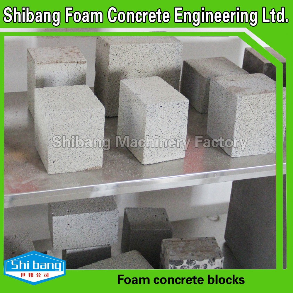 2016 best selling low cost light weight foam concrete for Cement foam blocks