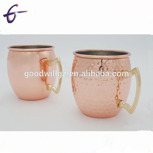 best selling promotional price hammered gold drinking moscow mule mug