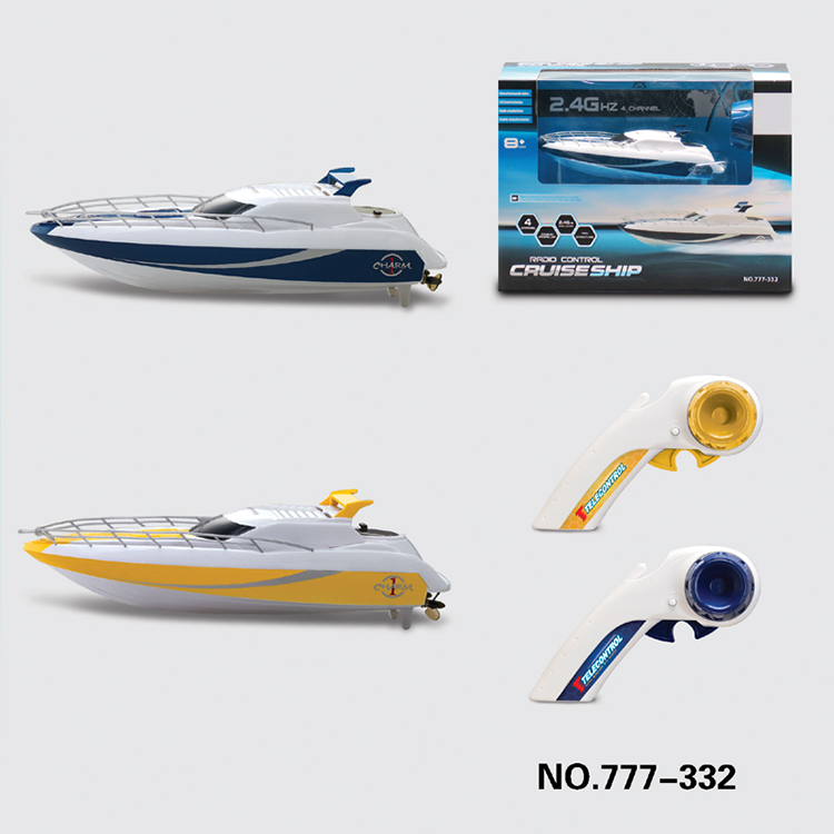 plastic toy battery operated remote control boat for kids