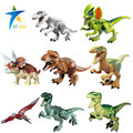 8pcs lot Dinosaurs of Jurassic Park World Mini Figure movie Kid Baby Toy Building Blocks Sets
