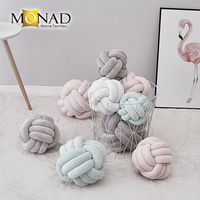 Best quality Nordic baby velvet beach pillow decore coussin knot cushion for living room decor