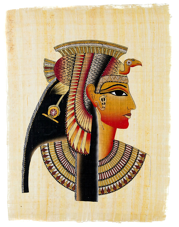 "Egyptian Papyrus Paper Painting Goddess Maat /& Hathor 9X13/"""