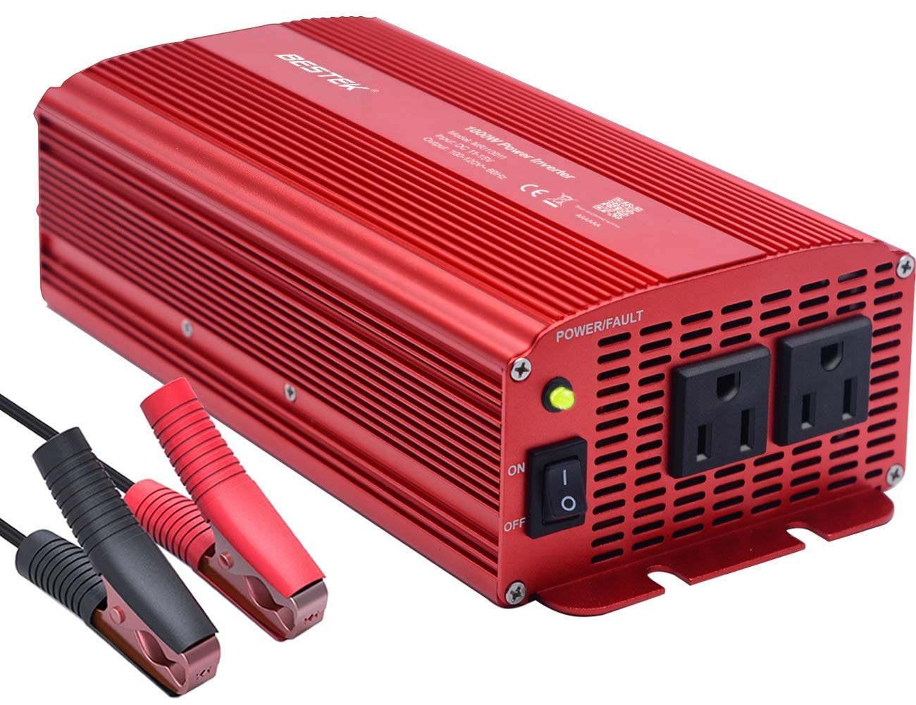 Get Quotations · BESTEK Power Inverter 1000 Watt DC 12 Volt Power Converter  1000w DC to AC Car Inverter